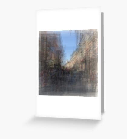 Rue St. Paul E Montreal streetscape Greeting Card
