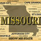 Missouri State Pride Map Silhouette  by KWJphotoart