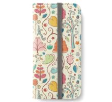 Plant Pattern Color 3 iPhone Wallet/Case/Skin
