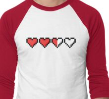 Two and a Half Hearts Remaining Men's Baseball ¾ T-Shirt