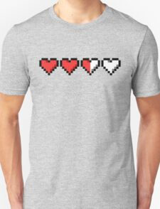 Two and a Half Hearts Remaining Unisex T-Shirt