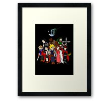 FF7 Characters Framed Print
