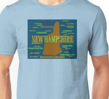 New Hampshire State Pride Map Silhouette  Unisex T-Shirt