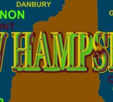 New Hampshire State Pride Map Silhouette  Sticker