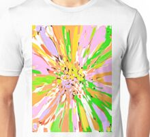 Spring Dahlia Abstract Flower Unisex T-Shirt
