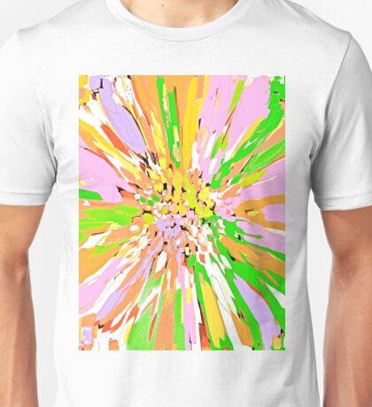 Spring Dahlia Abstract Flower Unisex T-Shirt
