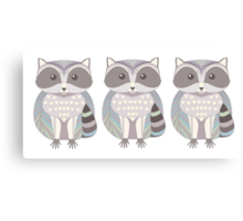 Raccoon Triplets Canvas Print