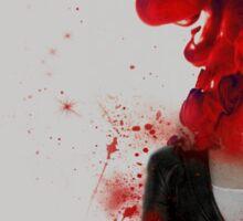 Black Widow Red 3 Sticker