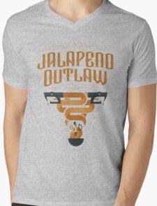 Jalapeno Outlaw SNAKE Mens V-Neck T-Shirt