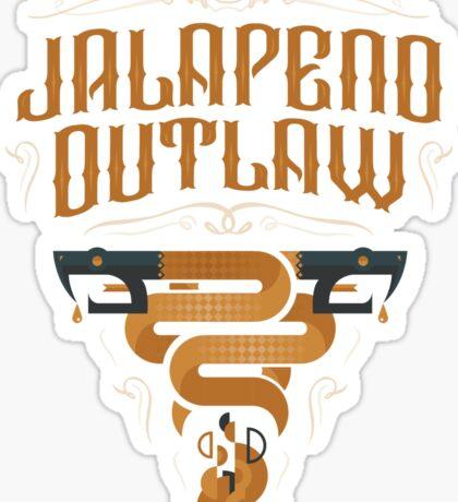 Jalapeno Outlaw SNAKE Sticker