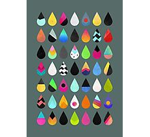 Colorful Rain Photographic Print