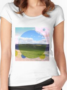 All About Italy. Tuscany Landscape 3 Women's Fitted Scoop T-Shirt
