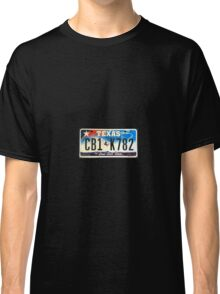 Texas lone star state licence Plate Classic T-Shirt
