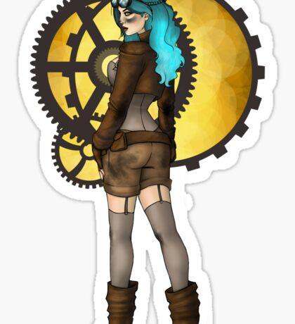 Steampunk Pinup Sticker