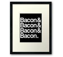 Bacon And Dark Framed Print