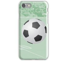 Soccer Field with Suspended Soccer Ball iPhone Case/Skin