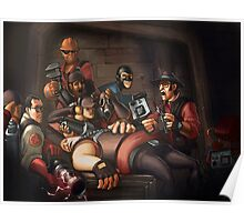 Team Fortress 2 Spy Around Here Poster