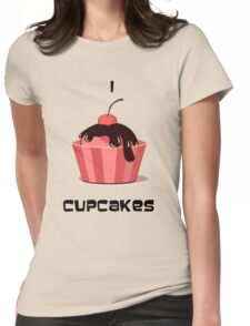 cupcake love Womens Fitted T-Shirt