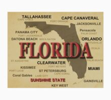Florida State Pride Map Silhouette  Kids Clothes