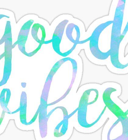 good vibes trendy free spirit laptop sticker Sticker