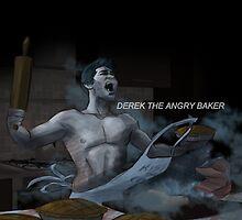 Derek the angry baker by Justyna Rerak