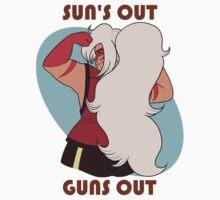 Sun's Out Guns Out Jasper One Piece - Short Sleeve