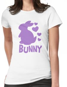 Bunny in purple Womens Fitted T-Shirt