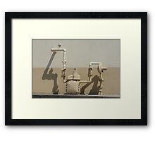 Natural gas pipes Framed Print