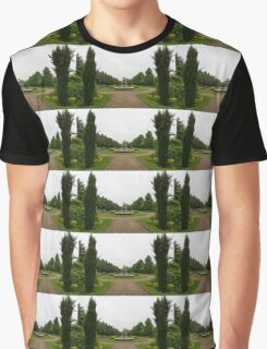 Peaceful Gray Symmetry - a Rainy Day in Regents Park, London Graphic T-Shirt