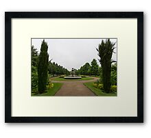 Peaceful Gray Symmetry - a Rainy Day in Regents Park, London Framed Print