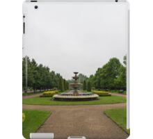 Peaceful Gray Symmetry - a Rainy Day in Regents Park, London iPad Case/Skin