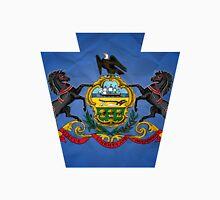 Pensylvania Keystone Flag Unisex T-Shirt