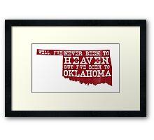 Oklahoma Heaven - Sooner Red Framed Print