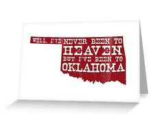 Oklahoma Heaven - Sooner Red Greeting Card