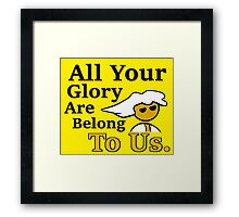 Steam PC Master Race All Your Glory Framed Print
