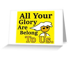 Steam PC Master Race All Your Glory Greeting Card