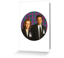 Aliens, Scully, Aliens. Greeting Card