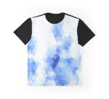 Painterly abstract geometric blue and white background Graphic T-Shirt