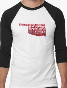 Oklahoma Heaven - Red Men's Baseball ¾ T-Shirt