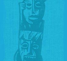 Tiki Gods - Blue by Greg Gosline