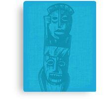 Tiki Gods - Blue Canvas Print