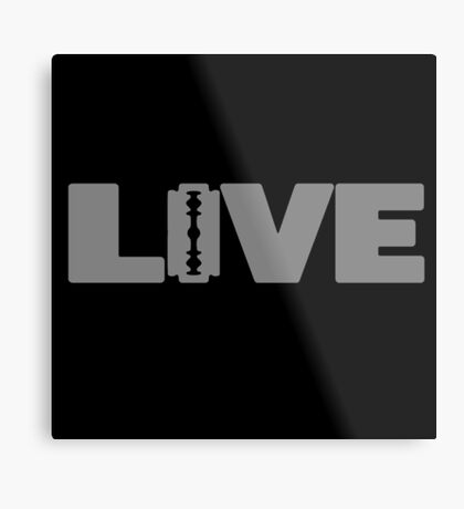 to live dangerously Metal Print