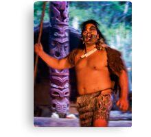 "Maori ""Warrior"" at Hangi Canvas Print"