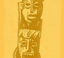 Tiki Gods - Yellow by Greg Gosline