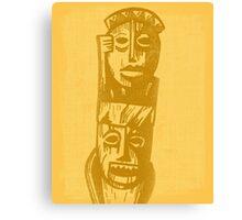 Tiki Gods - Yellow Canvas Print