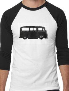 VW Bay window Bus in Black Men's Baseball ¾ T-Shirt