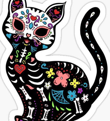 Dia de los Gatos Sticker