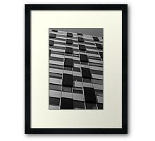 Rectangles abstract in black and white Framed Print