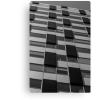 Rectangles abstract in black and white Canvas Print