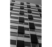 Rectangles abstract in black and white Photographic Print